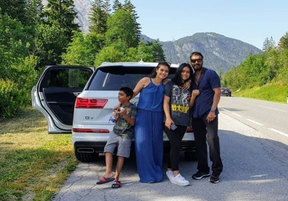 Ajay, Kajol go on road trip with children