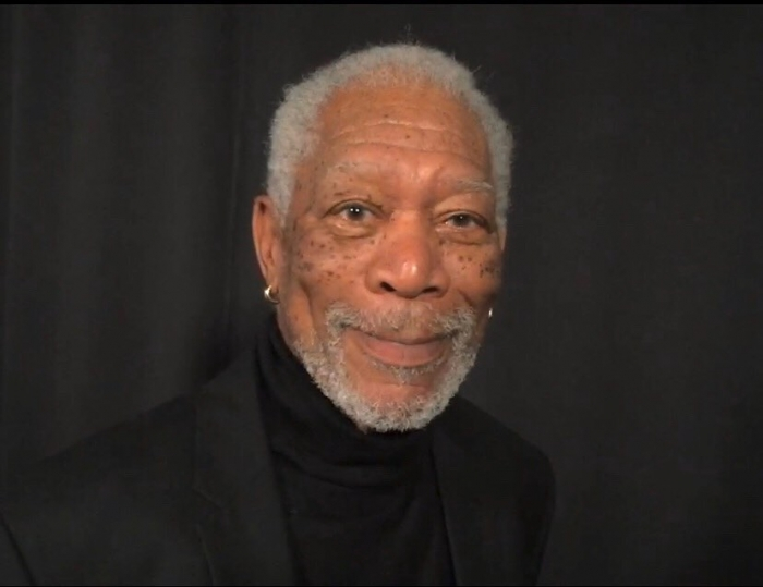 Morgan Freeman's special shoutout for Indian artist