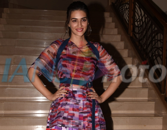 Actress Kriti Sanon during the promotion of upcoming film