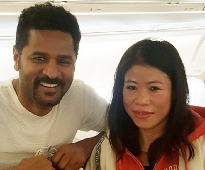 Prabhudheva meets 'pride of India' Mary Kom