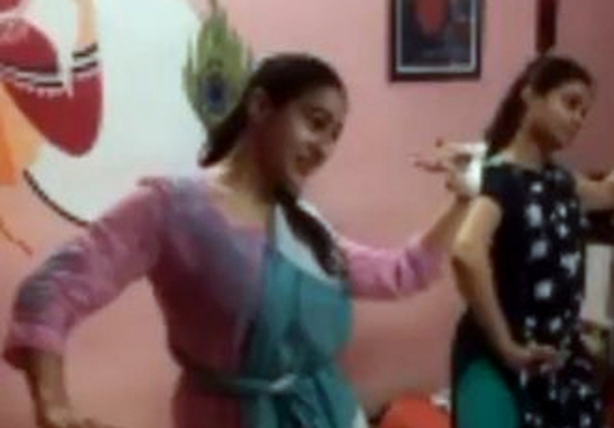 Sara shares video of herself performing Odissi dance