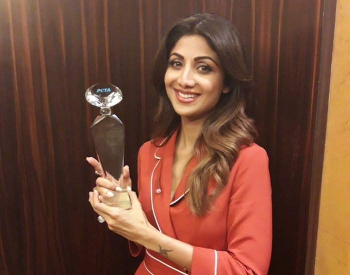 Shilpa Shetty wins PETA's 'Hero To Animals' Award