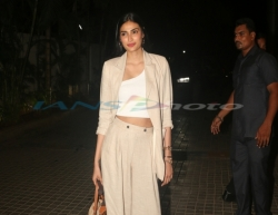 Mumbai: Actress Athiya Shetty at the screening of the upcoming film