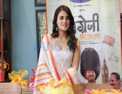 Mumbai: Actress Radhika Madan during the promotions of her upcoming film Angrezi Medium in Mumbai on March 12, 2020. (Photo: IANS)