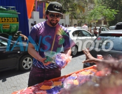 Actor Jackky Bhagnani during a Holi party hosted by Esha Deol in Mumbai on March 21, 2019. (Photo: IANS)