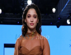 Mumbai: Actress Tamannaah Bhatia walks the ramp on Day 2 of the Bombay Times Fashion Week 2020, in Mumbai on March 14, 2020. (Photo: IANS)