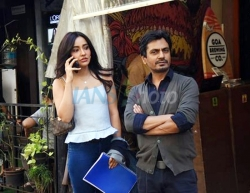 Mumbai: Actors Nawazuddin Siddiqui and Neha Sharma seen at Versova in Mumbai on March 16, 2020. (Photo: IANS)