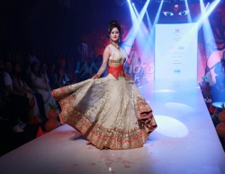 Mumbai: Actress Rashami Desai showcases the creation of fashion designer Rohit Verma at the Bombay Times Fashion Week in Mumbai on March 13, 2020. (Photo: IANS)