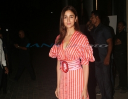 Mumbai: Actress Alia Bhatt at the screening of the upcoming film