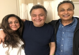 Anil, Tina Ambani meet Rishi Kapoor in New York