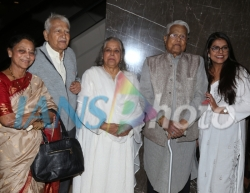 Veteran actors Seema Deo with husband Ramesh Deo, Shubha Khote, Viju Khote and Bhavana Balsavar at the inauguration of ActFest, which is organised by Cine and TV Artistes' Association (Cintaa) and 48 Hour Film Project, in Mumbai on Feb 15, 2019. (