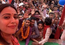 Swara campaigns for Kanhaiya Kumar on her birthday