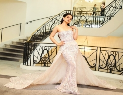 Cannes 2019 : Bollywood actress Kangana Ranaut looked no less than a princess out of a fairytale in a stunning pink and lavender hued trailed gown at the ongoing 72nd Cannes Film Festival.