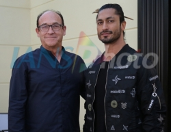 Director Chuck Russell and actor Vidyut Jamwall at media interaction during the promotions of his upcoming film Junglee in Mumbai, on March 22, 2019. (Photo: IANS)