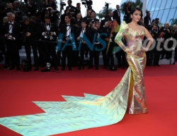 Cannes: Actress Aishwarya Rai Bachchan poses for photos upon her arrival at the premiere of the film A Hidden Life at the 72nd Cannes Film Festival in Cannes, southern France, on May 19, 2019. The 72nd Cannes Film Festival is held from May 14 to 25. (Xinh