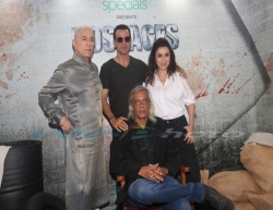Mumbai: Actors Ronit Roy, Dalip Tahil and Tisca Chopra with director Sudhir Mishra at the screening of their upcoming web series 'Hostages', in Mumbai, on May 22, 2019. (Photo: IANS)