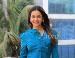 Mumbai: Actress Rakul Preet Singh seen at Andheri in Mumbai on May 18, 2019. (Photo: IANS)