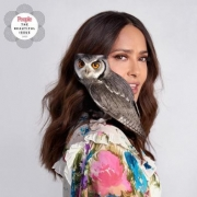 Salma Hayek's pet owl likes good wine