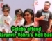 Raj Kundra, Karan Mehra with kids attend Karanvir Vohra's Holi bash